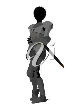 Royalty Free Clipart Image of a Female Warrior