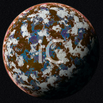 Orange planet in outer space
