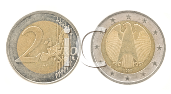 Royalty Free Clipart Image of Two Euro