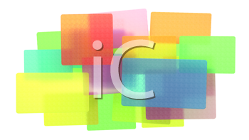 Royalty Free Clipart Image of Colorful Abstract Rectangles