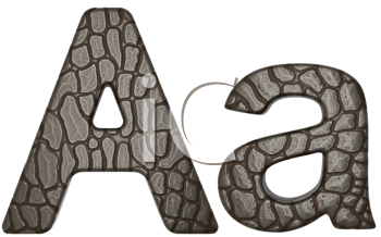 Royalty Free Clipart Image of Alligator Skin Font A Lowercase and Capital Letters