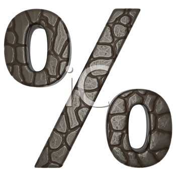 Royalty Free Clipart Image of Alligator Skin Percent Sign