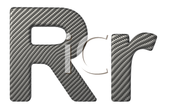 Royalty Free Clipart Image of a Capital and Lowercase R