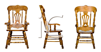 Royalty Free Clipart Image of a Collage of Antique Chairs