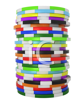 Royalty Free Clipart Image of a Stack of Casino Chips