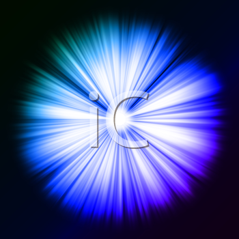Royalty Free Clipart Image of Colorful Beams of Light