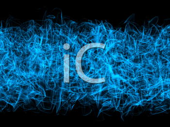 Royalty Free Clipart Image of Abstract Smoke Swirls
