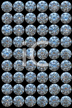 Royalty Free Clipart Image of Top Views of Diamonds