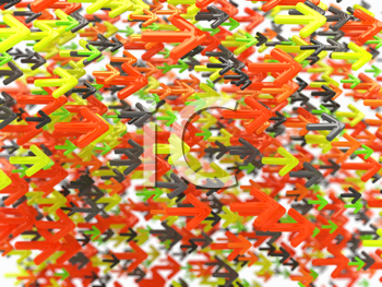 Royalty Free Clipart Image of a Colorful Arrow Background