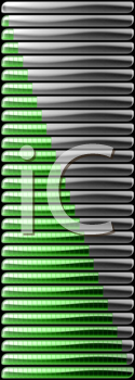 Royalty Free Clipart Image of Green Download and Upload Bars