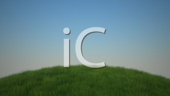 Royalty Free Clipart Image of a Grassy Hillside