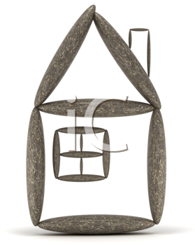 Royalty Free Clipart Image of a Home and Habitation Symbol