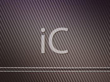 Royalty Free Clipart Image of Horizontally Stitched Carbon Fiber