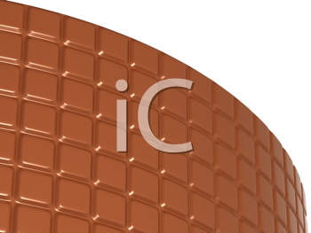 Royalty Free Clipart Image of a Bent Chocolate Bar