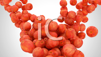 Royalty Free Clipart Image of a Background of Apples