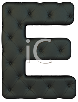 Royalty Free Clipart Image of a Black Leather Font E