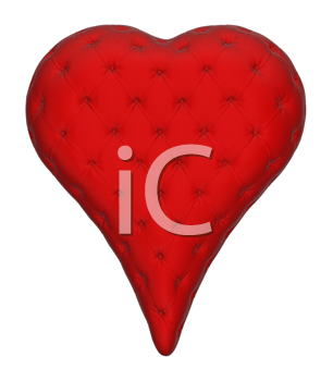 Royalty Free Clipart Image of a Leather Heart