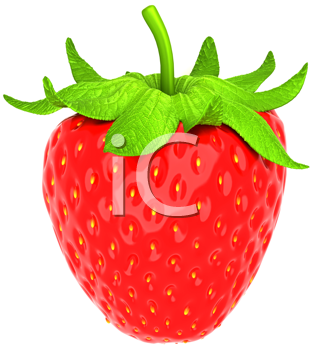 Royalty Free Clipart Image of a Strawberry