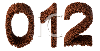 Royalty Free Clipart Image of Roasted Coffee Numbers