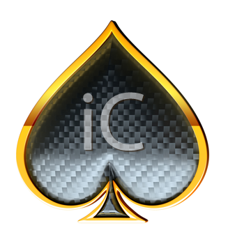 Royalty Free Clipart Image of a Spades Card Suit
