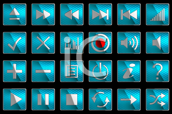 Royalty Free Clipart Image of Control Panel Buttons