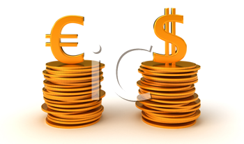 Royalty Free Clipart Image of Currency Equality