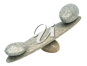 Balance: Pebble stability scales with large and small stones