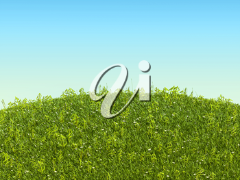 Conceptual US dollar grass symbols on the glade. Business and nature