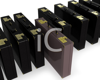 Royalty Free Clipart Image of Brown Cases