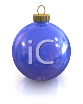 Royalty Free Clipart Image of a Shiny Glass Ornament
