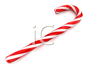 Royalty Free Clipart Image of a Candy Cane