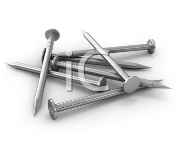 Royalty Free Clipart Image of Nails