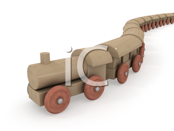 Royalty Free Clipart Image of a Toy Train
