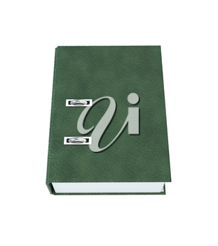 Folder Binder Leather texture isolated on a white background. 3d illustration.