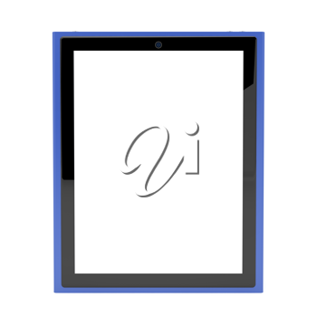 Royalty Free Clipart Image of a Tablet with an Empty Screen