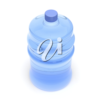 Royalty Free Clipart Image of a Bottle of Water