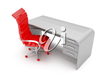 Royalty Free Clipart Image of a Modern Workplace