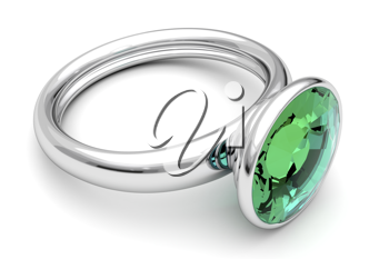 Royalty Free Clipart Image of a Platinum Ring