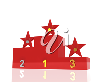 Royalty Free Clipart Image of an Awards Podium