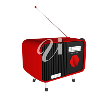 Royalty Free Clipart Image of an Old Fashioned Radio