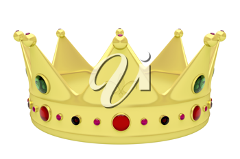 Royalty Free Clipart Image of a Crown