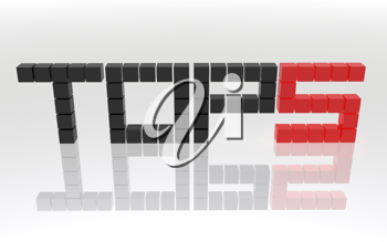 Royalty Free Clipart Image of Top 5