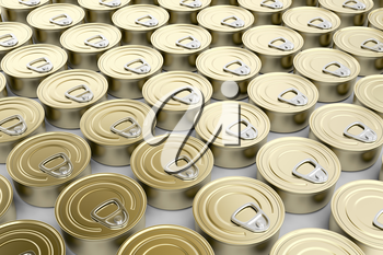 Multiple rows with tin cans