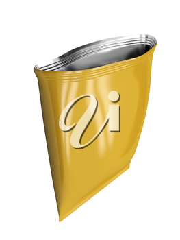 Royalty Free Clipart Image of an Empty Foil Bag