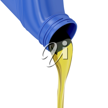 Royalty Free Clipart Image of a Motor Oil Being Poured