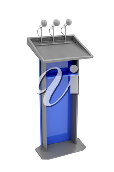 Royalty Free Clipart Image of a Podium