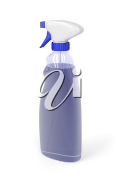 Window cleaner bottle spray on white background