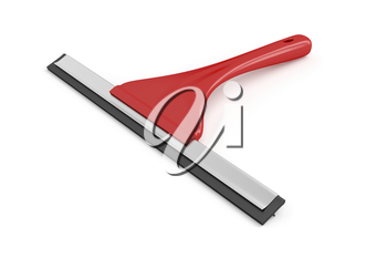 Window cleaning tool on white background