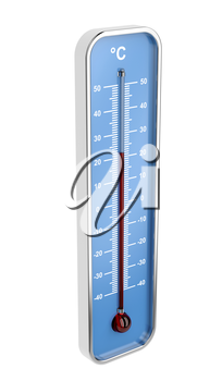 Indoor thermometer isolated on white background