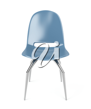 Modern plastic chair on white background
